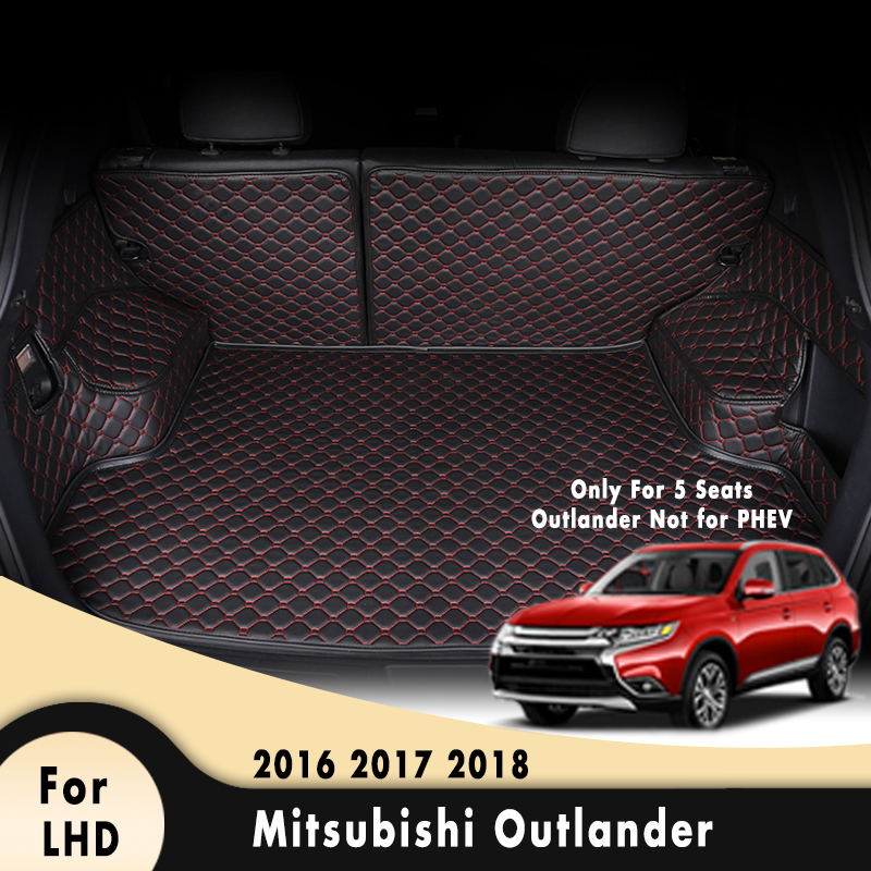 Car Floor Trunk Carpet Rugs Mats Auto Accessories Car-styling Mat Rug Car Cargo Liner For Mitsubishi Outlander 2016 2017 2018