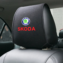 Housse de siège de voiture avec logo brodé pour skoda octavia fabia rapid yeti kodiaqsuperbe, 1 pièce, accessoires de voiture