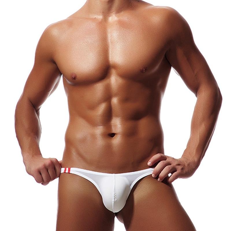 MJARTORIA Hot Men Thong Briefs Underwear Thong Ice Silk Thin Panties Pouch Bikini Beach Bodysuit Lingerie Brief Male Underpants