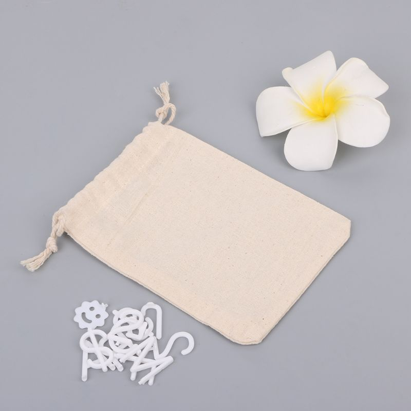 Cotton Linen Characters Storage Bags For Felt Letter Board Mini Drawstring Package