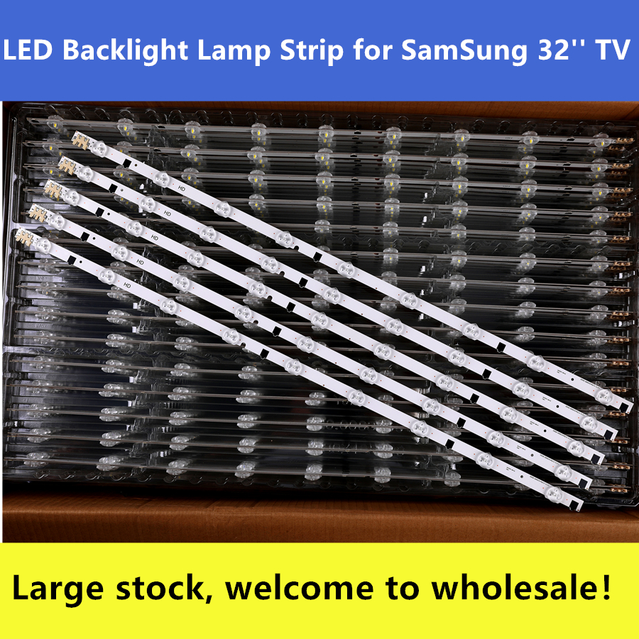 New Kit 5 Pieces 9 LEDs 650mm LED Strip For Samsung UE32F5300 D2GE-320SC0-R3 2013SVS32H BN96-25300A 26508B 26508A BN96-25299A