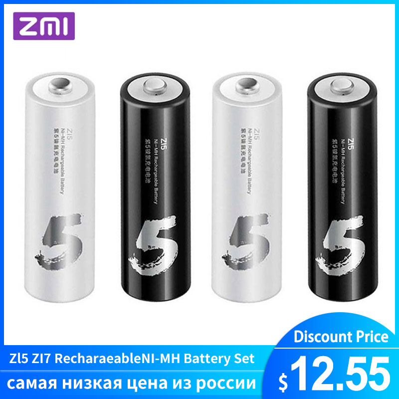 4PC/lot Original ZMI ZI7 ZI5 AAA <font><b>AA</b></font> 700mAh 1800mAh <font><b>1.2V</b></font> Rechargeable <font><b>Ni</b></font>-<font><b>MH</b></font> <font><b>Battery</b></font> ZIM Power Bank image