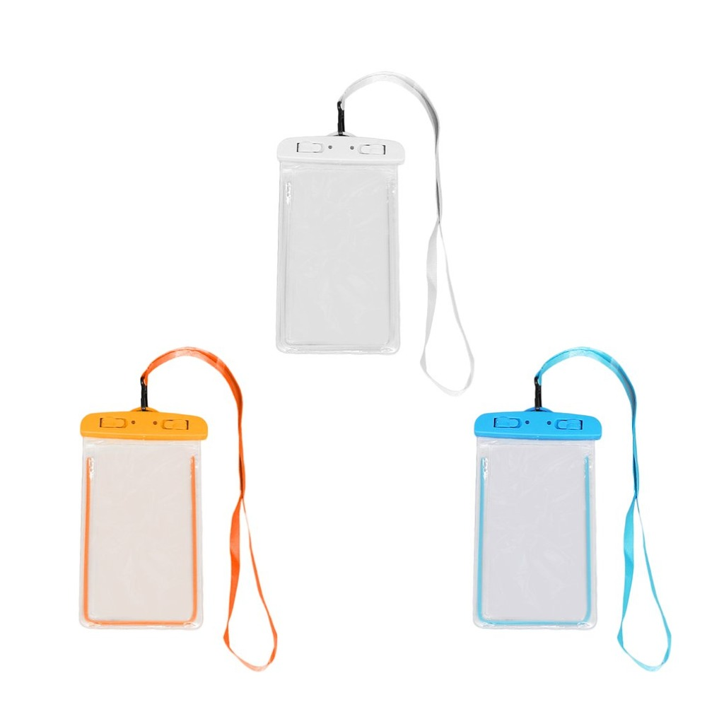 Outdoor Waterproof Phone Bag Luminous Universal Mobile Phone Case With Neck Strap For Swimming Surfing Fishing Boating Dropshipp