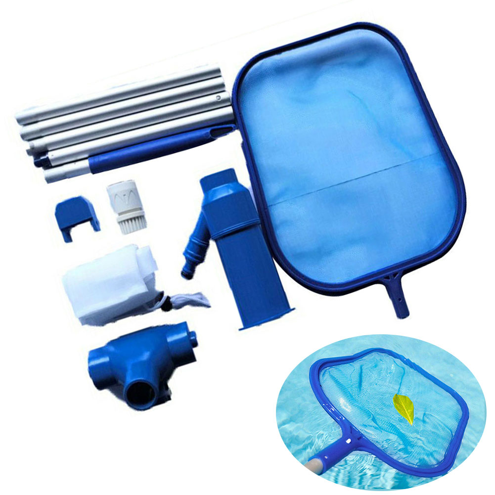 Accessories Tool Maintenance Retractable Suction Head Leaves Aquarium Debris Fresh Fishpond Swimming Pool Water Cleaning Net Kit