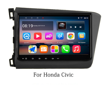 9 octa-core 1280*720 QLED screen Android 10 Car GPS radio Navigation for Honda Civic 2012-2013 with 4G/Wifi,DVR,mirror link image