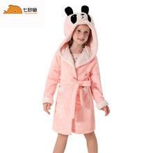 Детский банный халат, банный халат для девочек, ночная одежда для девочек, детская одежда для сна с рисунком животных, мягкая фланелевая зимняя Рождественская Пижама с капюшоном