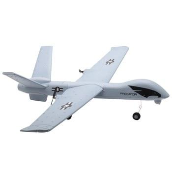 "Z51 טורף 660mm מוטת כנפיים 2.4G 2CH גלשן RC מטוס RTF מובנה DIY ארה""ב"