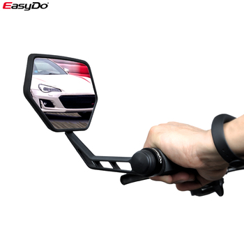 EasyDo 1 para rowerowe lusterko wsteczne rowerowe rowerowe szerokokątne lusterko wsteczne z regulacją lewego prawego lusterka tanie i dobre opinie ED3172-1 bike mirror black