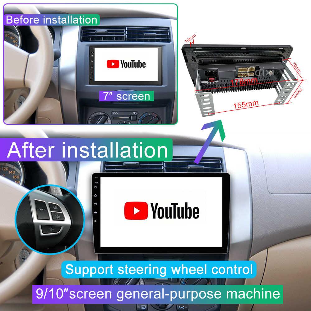 9/10 pollici Android 9.0 2 Din auto radio Multimedia Playe Universale auto Stereo di Gps di Navigazione Bluetooth Lettore Video Cam Posteriore