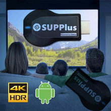 SUPPluse 4K Full HD Android TV Stick support Smart TV PC Windows Wireless Wifi Display Receiver m3u 12G