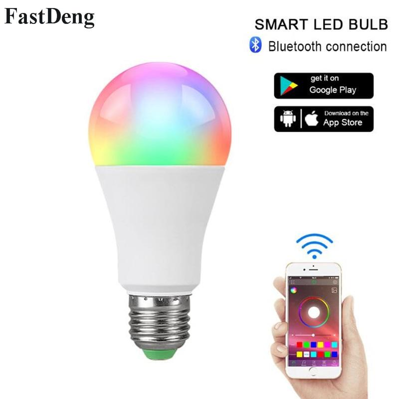 E27/B22 Bluetooth Multicolor Lâmpada LED 110V 220V Dimmable Luz Do Bluetooth Inteligente Controle Remoto do Bulbo Conduziu a Lâmpada para a Iluminação Home