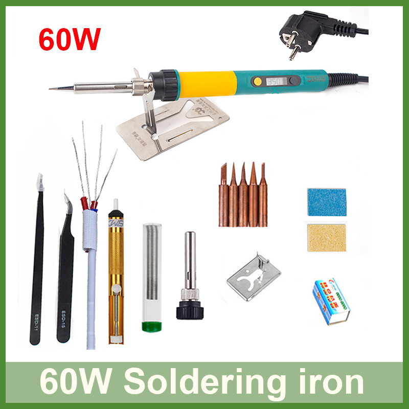 LED <font><b>Digital</b></font> Display 60W Electric <font><b>soldering</b></font> iron temperature adjustable Input 220V Welding Solder iron rework <font><b>station</b></font> <font><b>soldering</b></font> image