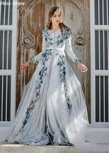 Платье вечернее ТРАПЕЦИЕВИДНОЕ с длинным рукавом и v образным