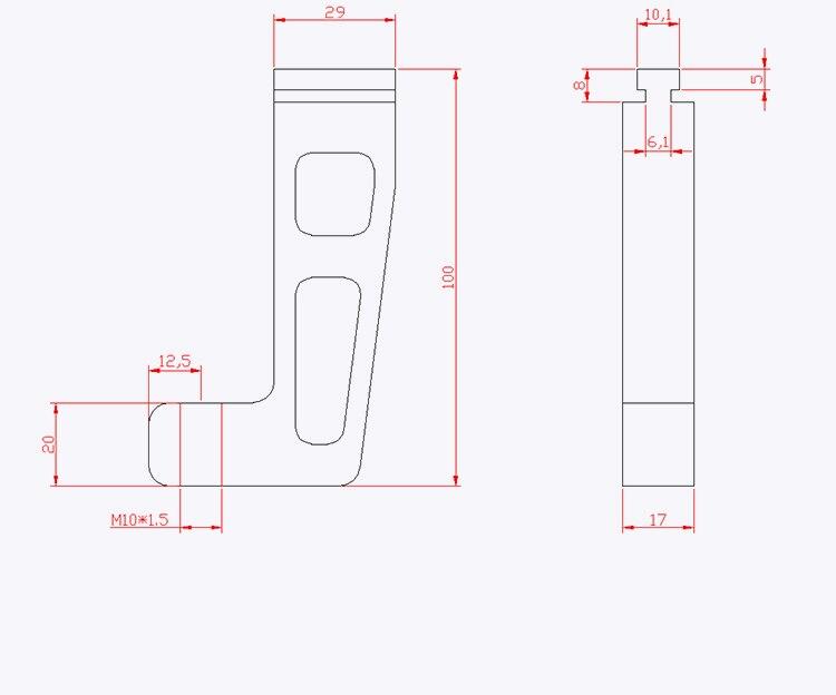 Купить с кэшбэком Set of 2PCS G Clamps for Standard Aluminium T-track 45mm
