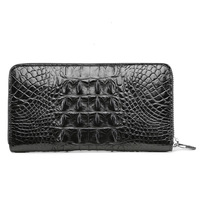 Crocodile wallets Man Long Fund Genuine Leather fashion More Function Business Affairs Hand Take Package Guard card pocket bag