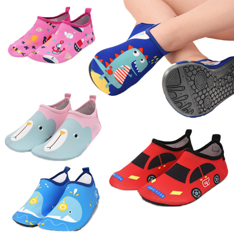 Kudvogue Children Beach Shoes Light Home Slippers Kids Swimming Shoes Soft Sole Girls Boys Indoor Footwear Non-slip Shoes Seasid