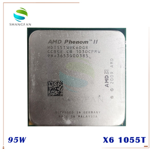 Image 1 - AMD Phenom X6 1055T X6 1055T 2.8GHz שש ליבות מעבד מעבד HDT55TWFK6DGR 95W שקע AM3 938pin