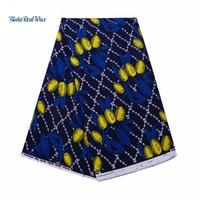 High Quality 6 Yards Cotton african wax fabric Bazin Fabric binta real Wax dutch Wax Fabrics for Party Dress 24FS1218