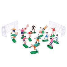 8 pçs/set Football Game Toy Kids Celebração Portão Meta Pastelaria Arte Aniversário Do Cupcake Topper Cupcake Bolo Topper Decoração Boneca Nova
