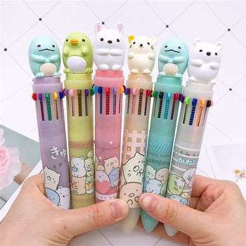 Cute Corner Biological Stereo Doll 12 Color Ballpoint Pen Creative Cartoon Student Stationery DIY Multi-Hand Account Pen
