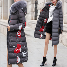 Fashion Slim two-faced wear Cotton Clothes coat 2019 winter Women hooded Big fur collar in  long thick padded down jacket недорого
