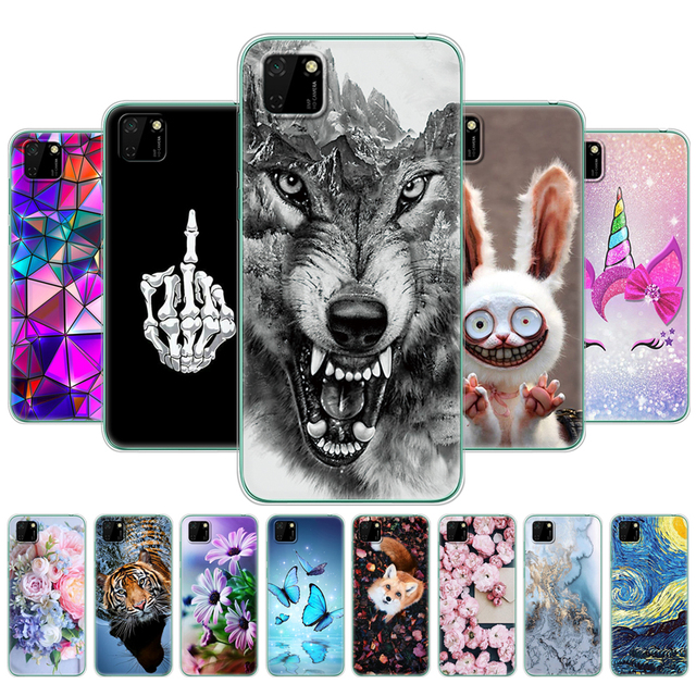 """Case For HONOR 9S back Cases 5.45"""" Soft Tpu Phone Cover On Huawei Honor 9S 9 S DUA-LX9 Back Bag Protective Coque Funda animal"""