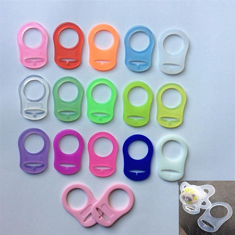 10pcs Silicone Pacifier Clips Soft Sanitary Mini Transparent Nipple Rings Pacifier Clips Holders Feeding Bottle Gaskets