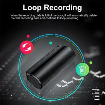 8GB Small Voice Activated Mini Clip On Magnetic  3