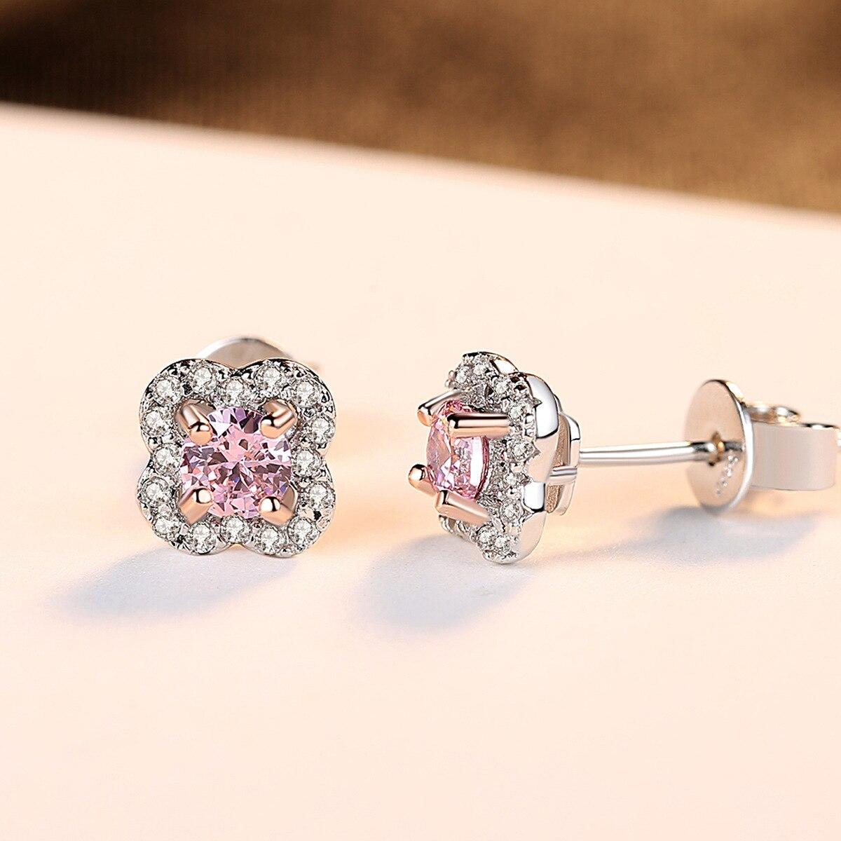 PAG & MAG AAA zircon fleur S925 pur argent oreille clou exquis mode dame boucle d'oreille bijoux en argent - 4