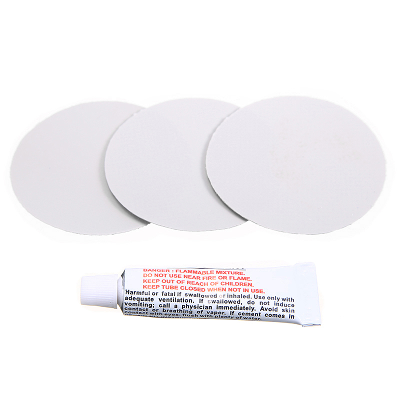 With Glue 3 Piece Light Grey Circular PVC Puncture Repair Patches For Inflatable Rubber Boat Pools Float Air Bed Dinghies MAYITR
