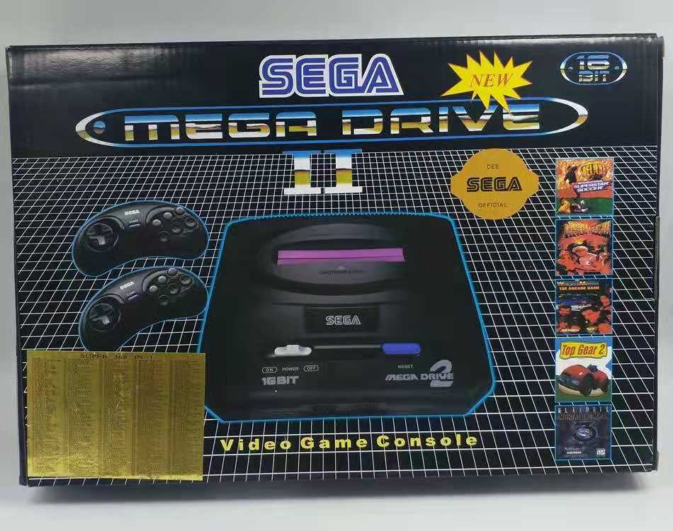 SUP 16bit ,Can run Sega MD2 games, built-in game 368 in 1, plug-in card dual handle video-game-console, factory direct sales