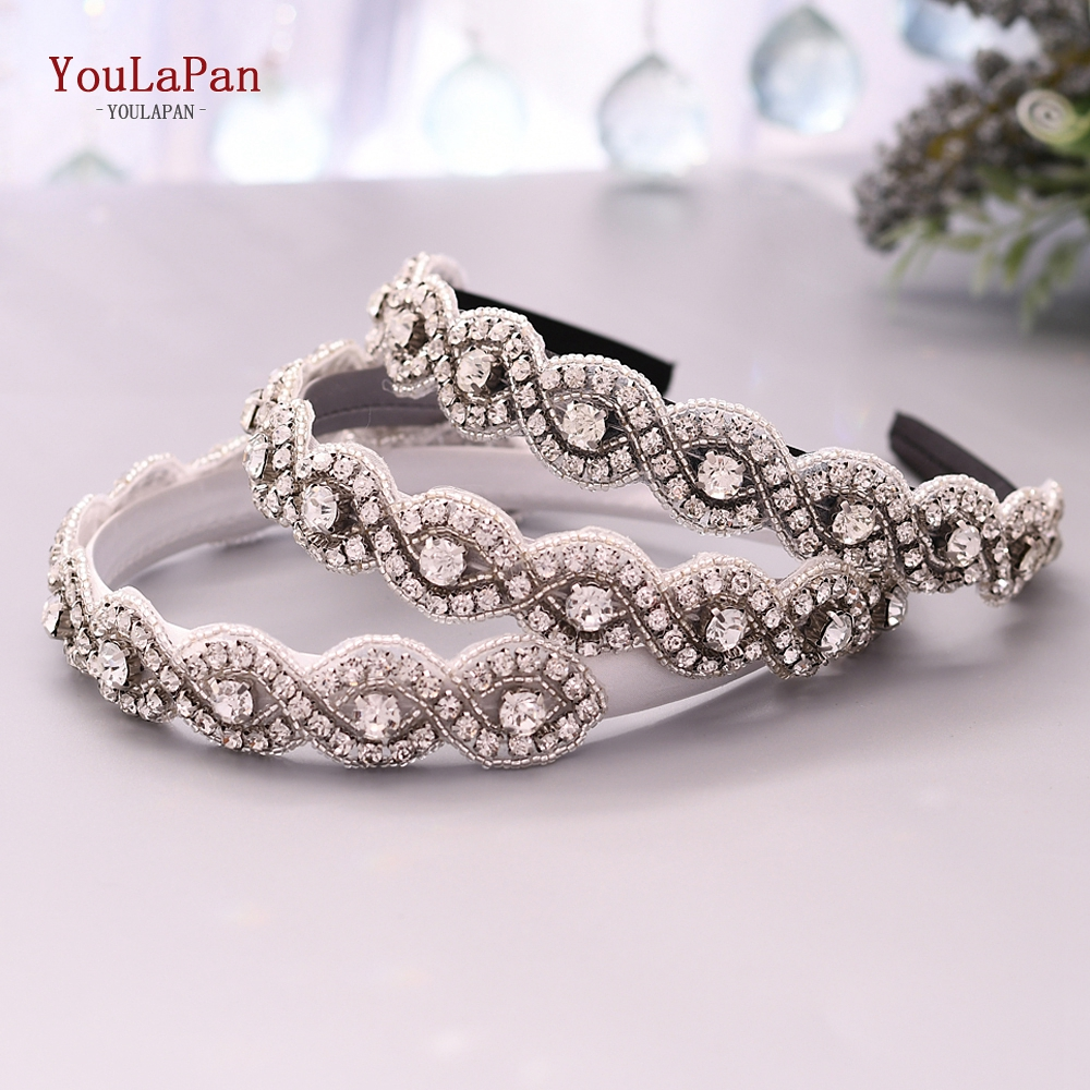 YouLaPan S28-FG Fashion Luxury Sparkly Rhinestone Headband Bridal Stone Hairband Women Hair Accessories Vintage Baroque Tiara