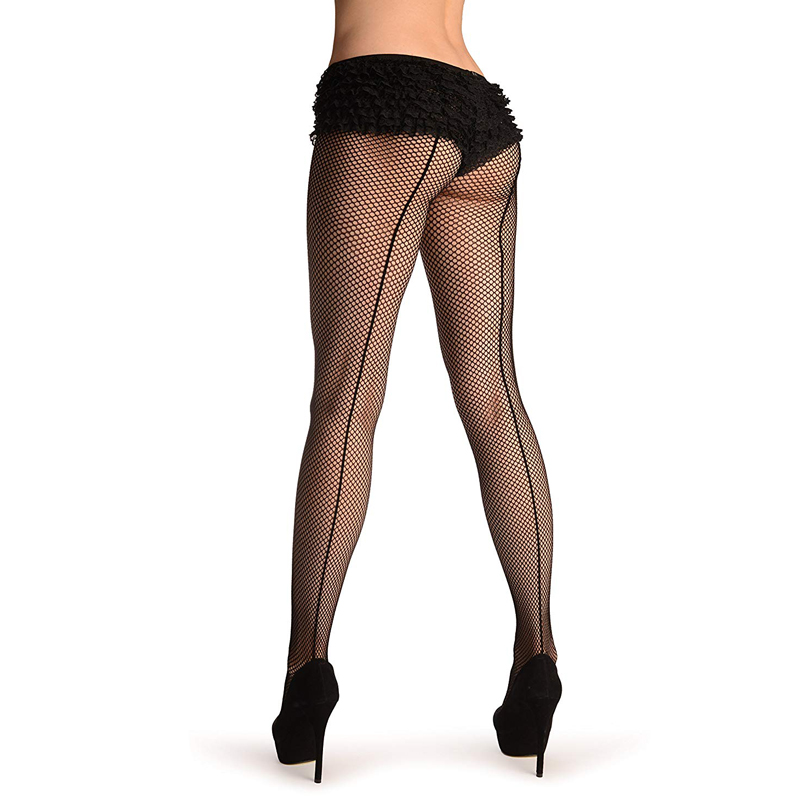 2017 Women's fishnet stocking Vintage Cuban Design tights  lingerie Back Line Seam club party hosiery slim pantyhose female