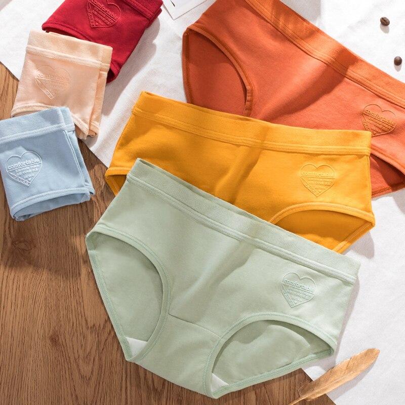 Женские Бесшовные хлопковые трусы, сексуальное нижнее белье со средней талией, нижнее белье для женщин, нижнее белье XL # F