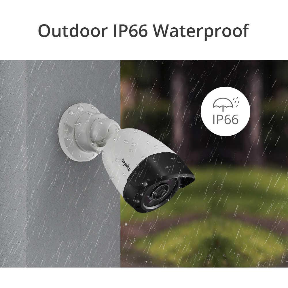SANNCE 8CH 5MP-N hd dvr system kamer do monitoringu domu 4 sztuk 5MP widzenie nocne z wykorzystaniem podczerwieni IP66 na zewnątrz kamery AI kamery monitoringu cctv zestaw
