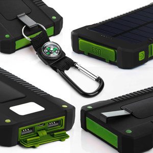 Image 3 - 8000mAh 태양 전원 은행 방수 태양 열 충전기 듀얼 USB 외부 충전기 Powerbank 샤오미 huawei 아이폰 7 8 삼성