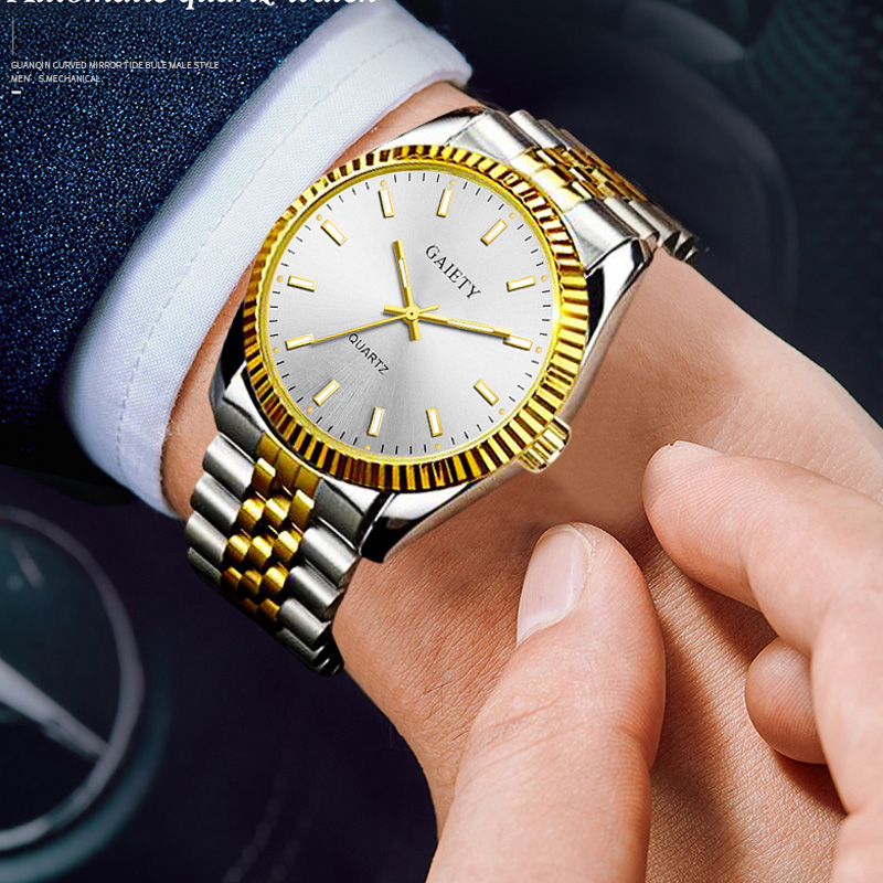 Gaiety Men Watch Chronograph Sport Mens Watches Top Brand Luxury Waterproof Full Steel Quartz Gold Clock Men Relogio Masculino