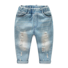 Boys Solid Jeans Pants 2019 New Kids Baby Trousers Girls Children Toddler Denim Casual Jean Infant