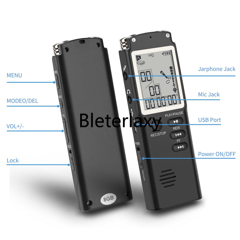 8GB/16GB/32GB Suara Perekam USB Profesional 96 Jam Dictaphone Digital Audio Perekam Suara dengan WAV MP3 Pemain
