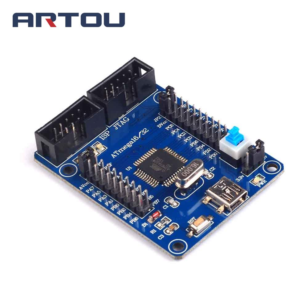 1pcs AVR Development Board ATmega32 Development Board Learning Board Minimum System Core Board