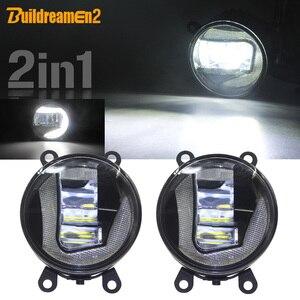 Buildreamen2 żarówka LED samochodowa projektor światła przeciwmgielne + światło do jazdy dziennej DRL biały 12V dla Infiniti EX EX25 EX37 EX35 2008-2013