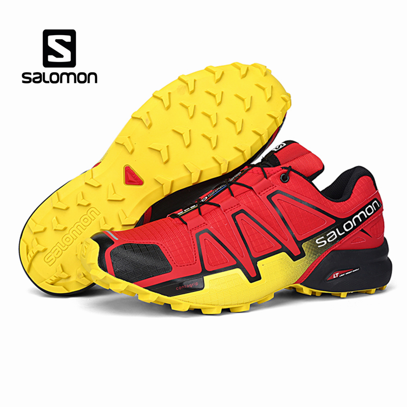 Salomon Speed Cross 4 CS Sport Men Outdoor Shoes Breathable Zapatillas Hombre Mujer Male Fencing Sneaker Speedcross Shoe 2018