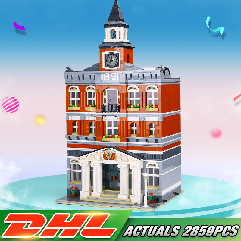 DHL 15003 Street Building Toys Compatible With 10224 Town Hall Set Assembly Kits Building Bricks Block
