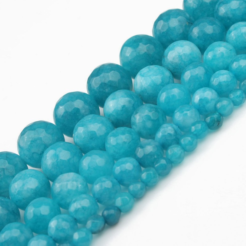 """4//6//8//10//12//14mm Natural Blue Chalcedony Round Gemstone Loose Beads 15/"""" AAA"""