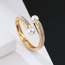 Женский браслет с двумя жемчужинами anke store модные ювелирные