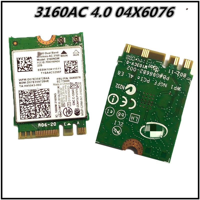 3160AC 4.0 04X6076 WiFi Card For Lenovo E450 E550 Y40-70 80 85 Y50-70 80 G50- 30 35 70 75 Z50-70 75 80 Z40-70 75 30 35