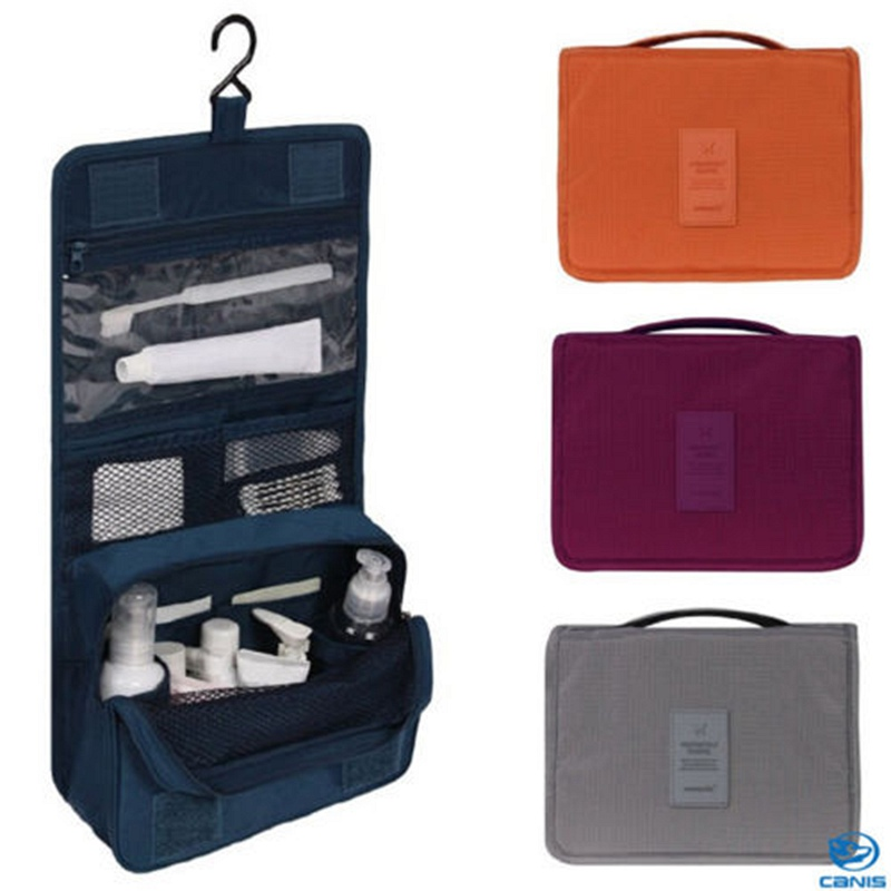 Men Travel Hanging Wash Cosmetic Bag Folding Toiletry Case Storage Luggage Accessories