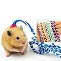 1,4 M Pet Leine Hamster Kaninchen Seil Blei Kragen Einstellbare Harness Seil Handgemachte Gewebt Ratte Maus Hamster Pet Leine