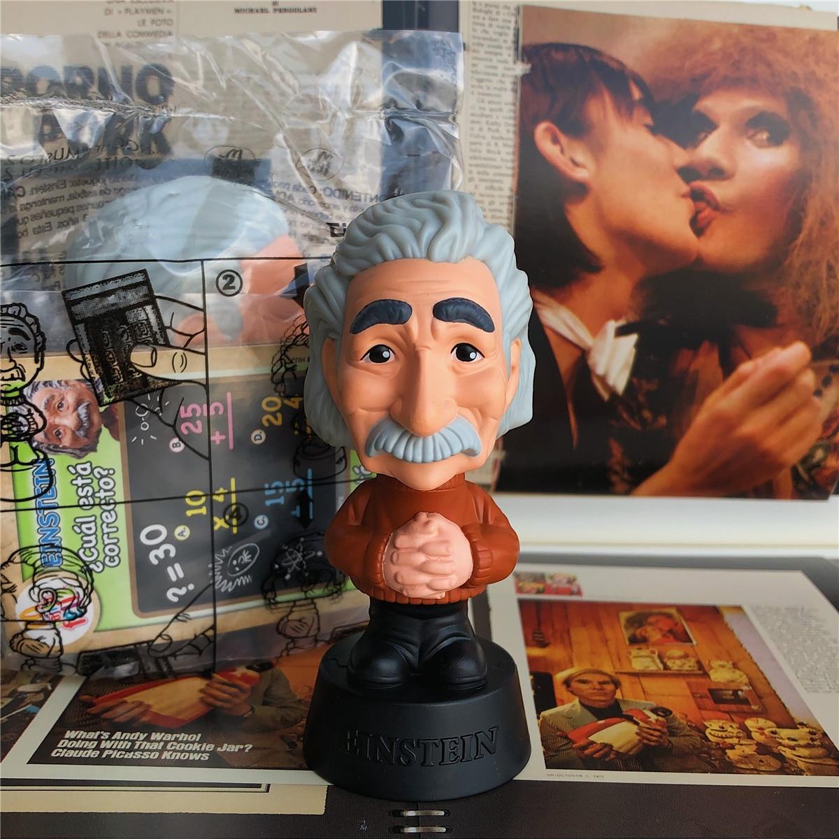 Original Garage Kid 10cm Action Figure Albert Einstein Scientist Mini Doll Loose Toy Figure Model Collectible Model Toy Gifts