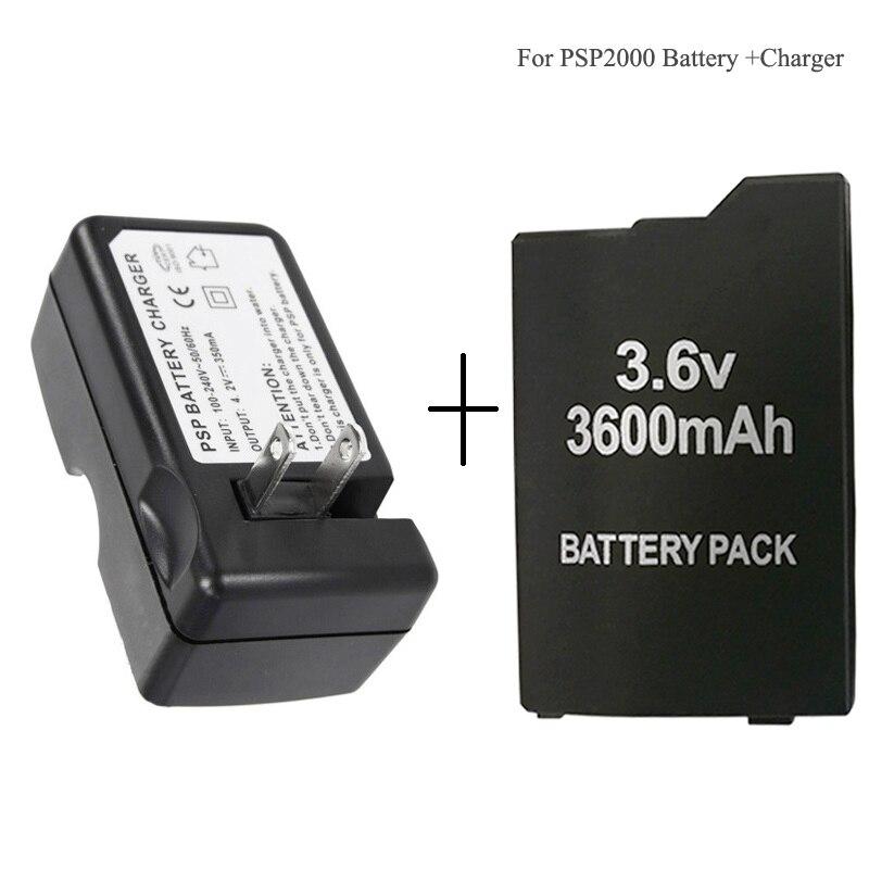 For Sony PSP2000 PSP3000 Battery Li Ion Lithium Rechargeable Batteryes 3 6V 3600mAh PSP 2000 PSP